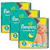 Couches Pampers - Taille 2 new baby dry - 129 couches bébé