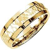 14k oro 7,5 millimetri fantasia intagliato Wedding Band Ring