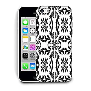 Snoogg Black Pattern Leaves Printed Protective Phone Back Case Cover For Apple Iphone 6 / 6S