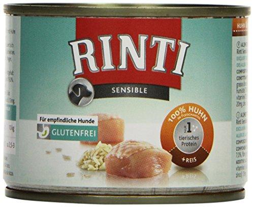 Rinti Hundefutter Sensible Huhn & Reis 185 g, 12er Pack (12 x 185 g) Hund Huhn Und Reis