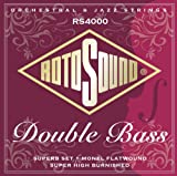 Rotosound Double Bass Jeu de cordes pour basse Nylon/Monel Filet plat