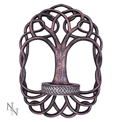 Nemesis Now-Bronzo-Porta candela albero della vita 26cm