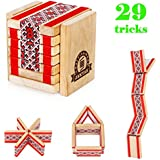 JakTak Funny Brand New Wooden Flip Flap Puzzle Toy To Build Twisty Shapes And Make Trick. True Novelty Relaxation Tool For Kids And Adults In The Office, At Parties Or Travels.