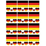 SpringPear 12x Temporär Tattoo von Flagge Deutschlands für WM 2018 Internationale Wettbewerbe Wasserfeste Fahnen Tätowierung Fan Set (12 Pcs)