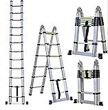 Masko® 3.20m Teleskopleiter Multifunktionsleiter Aluleiter Klappleiter Anlegeleiter -