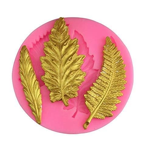 ACZZ Kuchen Formen Blatt Muster Silikon Harz Ton Formen handgemachte Harz Schimmel Polymer Clay Schimmel 2St -