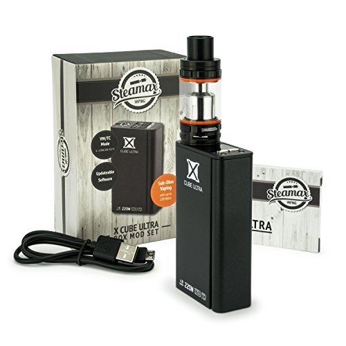 Steamax / Smok xCube Ultra + TFV8 + 2 x 3120 Sony Konion VTC6 Akkus (Schwarz)
