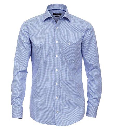 Casa Moda - Modern Fit - Bügelfreies Herren Business Langarm Hemd, kariert in verschiedenen Farben (006760A) Rot (401)