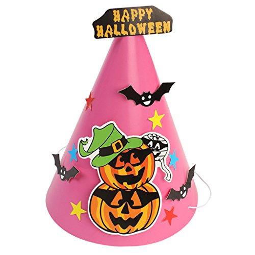 Rosa Kostüm Diy Damen (Gazechimp Halloween Party Partyhütchen aus Papier DIY Handwerk - Kürbis)