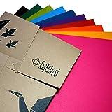 Folded Square Origami - Conjunto de Regalo de Papel para Papiroflexia, 100 Hojas, 15cm Cuadrado, Colección de Colores Contemporáneos