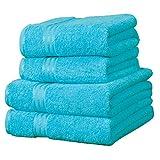 Linens Limited Supreme 100% Egyptian Cotton 4 Piece Guest Towel Set, Teal
