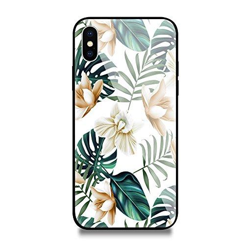 inShang iPhone X Hülle neuer Entwurf-ausgeglichenes Glas-Kasten mit 9H + super Härte, starke Schlagfestigkeit, dünnes Case Cover iPhone X 2017 Unterstützt drahtloses Aufladen 39
