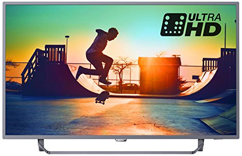 Philips 65PUS6262/05 65-Inch 4K Ultra HD Smart TV with Ambilight 3-sided, HDR Plus, Freeview Play - Dark silver (2017 Model)