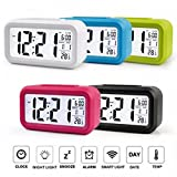 #3: MSE Smart Alarm Clock With Large LCD Screen Low Light Sensor Technolog(Color as per availability)(pack of 1)