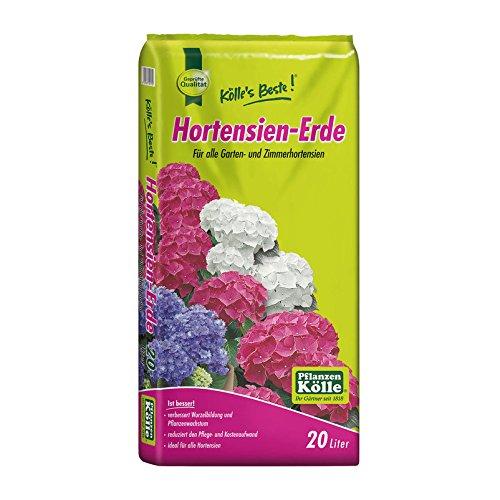 Hortensienerde – 20 Liter – Spezialerde für alle Hortensiensorten – Gärtnerqualität – Kölle's Beste