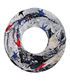 Majea Damen Loop Schal viele Farben tolle Muster Schlauchschal Halstücher (navy 12)