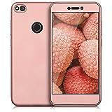 kwmobile Funda para Huawei P8 Lite (2017) - Carcasa [Doble] de [TPU] - Case de [ambas Caras] para móvil en [Oro Rosa Metalizado]