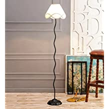 Off White Cotton Zig Zag Floor Lamp /Standing Lamp By New Era For Living Room /Drawing Room/Office/Bedroom/Decoration /Corner/Gift/Lobby