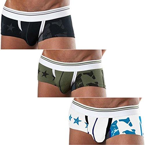 sexy Herren Hipster Short Boxershorts slip unterwäsche pants unterhose lässig (157 XL, 2er-Pack) (Herren Lässiges Xl)
