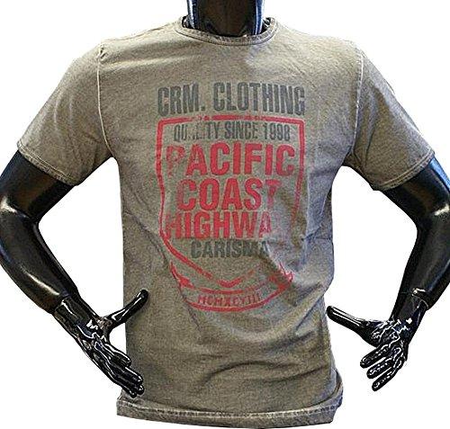 Brandneu !!! Designer T-Shirt von CARISMA in 3 Farben dirty-Oil CRM4106 Dunkelgrau