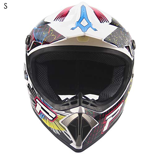 Fahrradhelm Mountainbike MTB Helm Rollerhelm Unisex Geschützter Fahrradhelm für Fahrradfahren Racing Skateboarding Outdoors Sports Safety Kinder (Weiß, S)