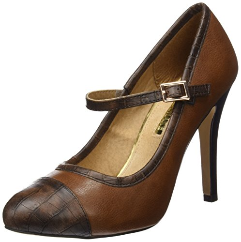 Maria Mare 2016 I Basic Calzado Señora, Scarpe con Tacco e Punta Chiusa Donna CROCO CHOCOLATE / BOMBEADO CASTAÑO