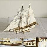 SAFETYON 1: 100 Hobby Holzschiff Modelle Boot Schiffe Kits Segel Boot Holz Modell Kit Spielzeug
