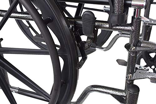 51NjyneES L - Mobiclinic, Silla de ruedas premium, Plegable, Ruedas traseras grandes extraíbles, Reposapiés y reposabrazos, Asiento de 46 centímetros, S220 Sevilla