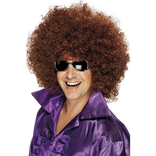 Große Afro Perücke, Braun, One Size, 42036 (Klasse Halloween-ideen)