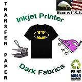 "Inkjet Heat Transfer Paper-dark Fabrics(8.5""x11""-10/pk) by World-Paper"