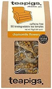 Teapigs Chamomile Flowers 87.5 g (Pack of 1, Total 50 Tea Bags)