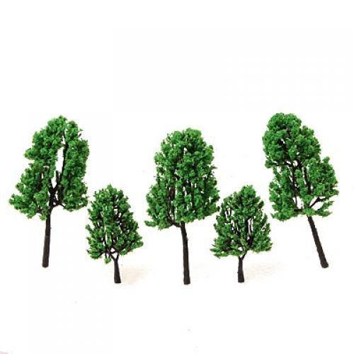 Unbekannt 16pcs Landschaftbau Pinie Baum Pflanzen Plastik Bäume Modell -