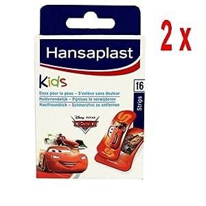 2 x Hansaplast Pflaster – Kinder Disney Cars – 16 Streifen