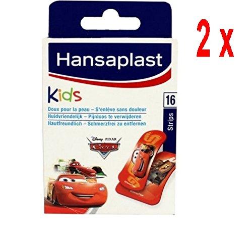 2 x Hansaplast Pflaster - Kinder Disney Cars - 16 Streifen