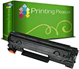 Printing Pleasure Compatible CB436A / 36A Laser Toner Cartridge for HP Laserjet Printers - Black