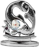 Sternzeichen Fisch Figur mit Kristallen silberfarben MADE WITH SWAROVSKI ELEMENTS