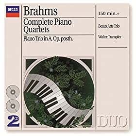 Brahms: Piano Quartet No.3 in C minor, Op.60 - 3. Andante