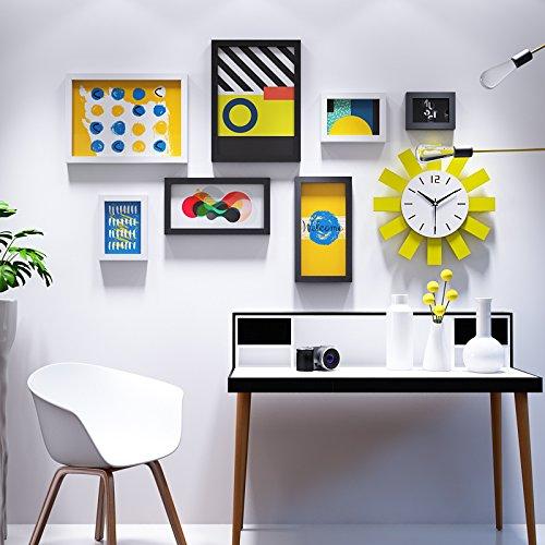 Cornice portafoto * creativo solar orologio da parete cornice portafoto da parete minimalista parete attrezzata soggiorno funzionalità muro foto, in bianco e nero
