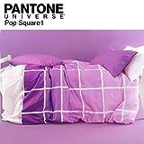 Bassetti Parure Copripiumino Matrimoniale Pantone Universe Art. Pop Square escluso sotto Lenzuolo + tavoletta Profumo Biancheria per armadi by biancocasa