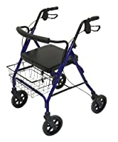Patterson Medical Bariatric Heavy Duty Rollator - Blue