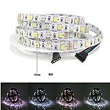 Tesfish DC12V RGBW LED Strip RGB + White Mixed Color 5M 300LEDs 5050 IP20 Non Waterproof Strip Light