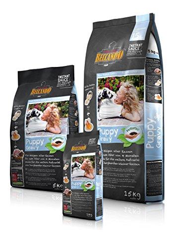 BELCANDO Trockenfutter PUPPY GRAVY für Hunde-Welpen und Junghunde 5,0 kg (Kleine Erleichterung)