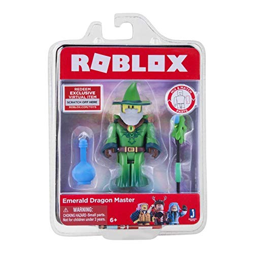 Roblox 10718 Emerald Dragon Master Figure Playset
