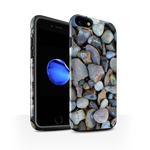 STUFF4 Glanz Harten Stoßfest Hülle / Case für Apple iPhone 7 / Pack 15pcs / Stein/Rock Kollektion Große Kieselsteine
