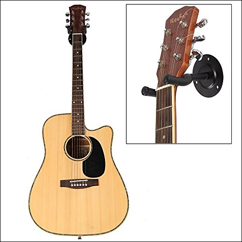 Mustang Acoustic Guitar Wall Hanger | Mount | Holder | Hook | Stand | Rack For Acoustic | Electric | Bass Guitars, With Fittings Accessories (Black)  available at amazon for Rs.147