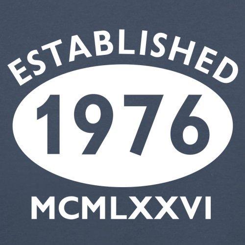 Gegründet 1976 Römische Ziffern - 41 Geburtstag - Damen T-Shirt - 14 Farben Navy