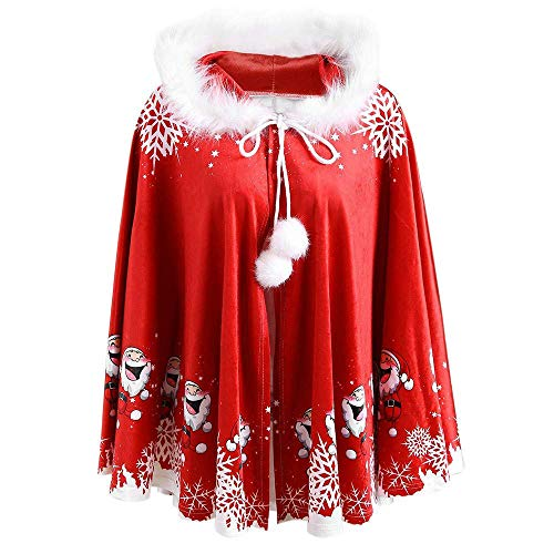 Superfriday Mom & Me Adult Family Passende Weihnachten Santa Kapuzen Cape Coat Frauen Mädchen ()