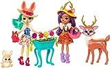 Enchantimals Mattel FDG01 Gartenzauber Spielset mit Hasen-Puppe, REH-Puppe und Ihren Tierfreunden