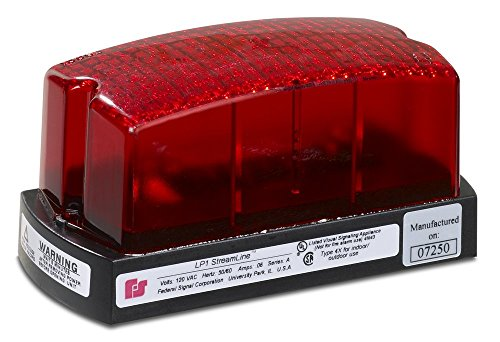 Federal Signal LP1-012R Streamline Low Profile Mini Strobe Light, Surface Mount, 12 VDC, Red by Federal Signal