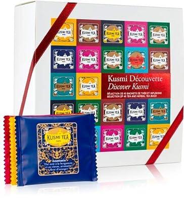 Kusmi Tea - Coffret cadeau Découverte - 45 sachets de thés et infusions